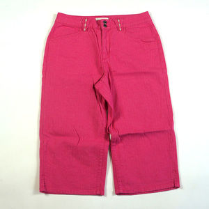 Coldwater Creek Cropped Size 10 High Rise Hot Pink